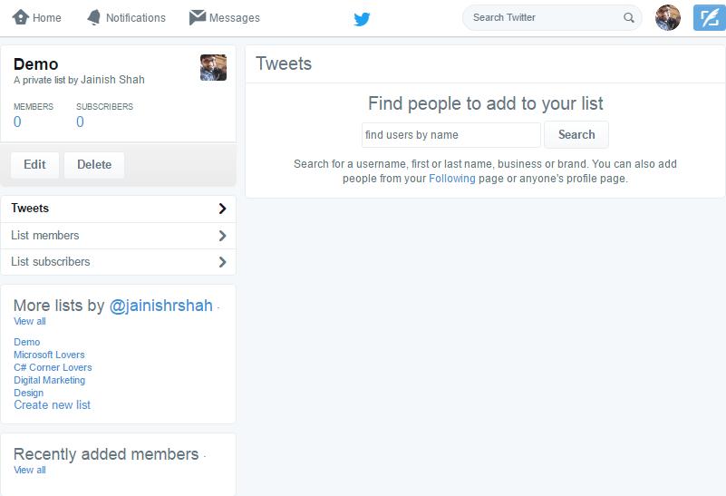 managing twitter lists